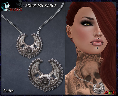 P Inca Moon MESH Necklace