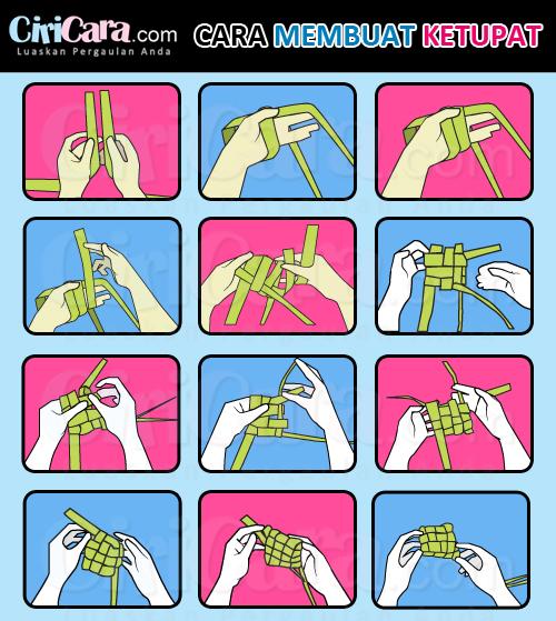 Ciricara Infografis Cara Membuat Ketupat