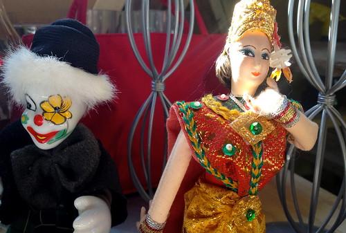 doll dolls clown fleemarket docka loppis paradiset dockor årjäng tvärdalen