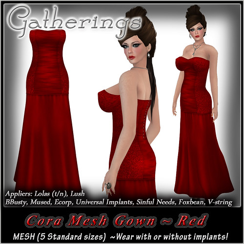 Mesh Cora Gown Red signage by Stacia Zabaleta