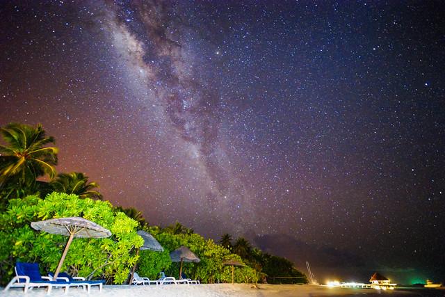 Beautiful Galaxy in Maldives