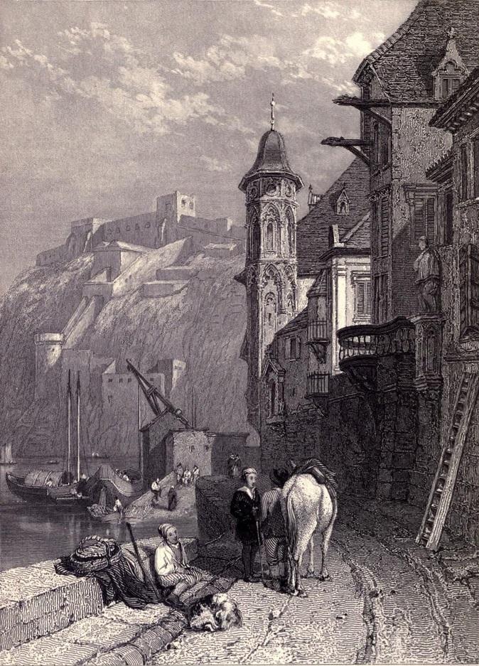 8. Ehrenbreintstein junto al Rin. Boceto de Clarkson Stanfield. 1833. Autor, Ayacata7