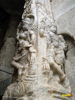 Intricate Sculptures at Veerabhadra Swamy Temple at Lepakshi, in Andhra Pradesh, near Andhra - Karnataka border, India