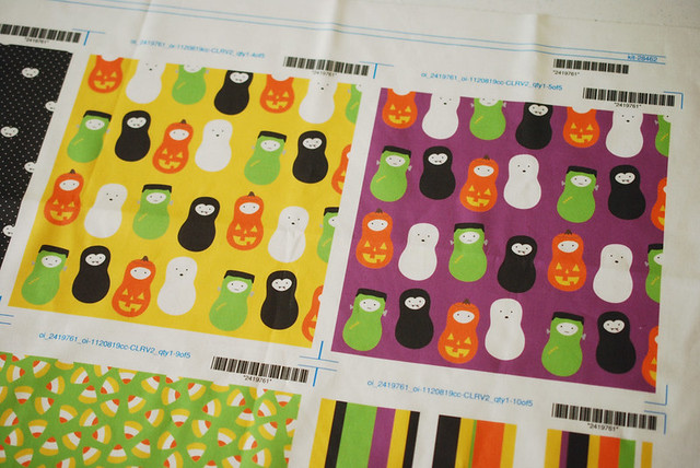 Halloween Jordnöts Fabric