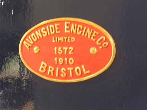 Avonside 0-6-0T 1572 'Woolmer' (1910) builder's plate, Locomotion Shildon 29.06.2009 P6290046