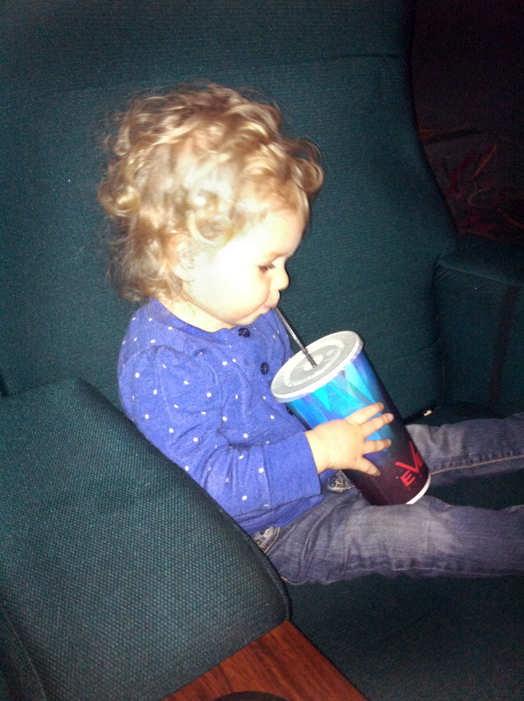 Audrey's first trip to the movies