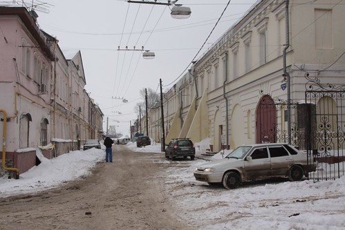 Side streets in the old town of Nizhny Novgorod