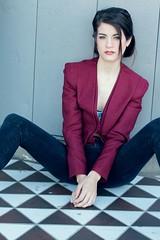 textile, model, clothing, blazer, outerwear, limb, leg, fashion, formal wear, photo shoot, blue, sitting,