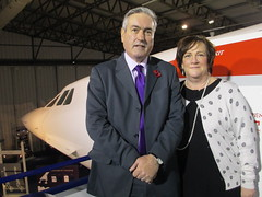 With Iain Gray MSP at the National Museum of Flight