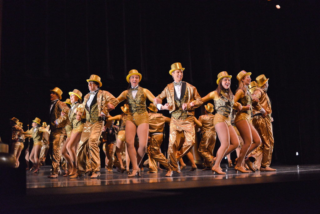 The Sunderman Conservatory of Music and Department of Theatre Arts presented <i>A Chorus Line</i> at the Majestic Theater. The entire cast of 26 actors, 10 technical crew members, and 18 orchestra pit musicians shared the spotlight in this unforgettable performance.