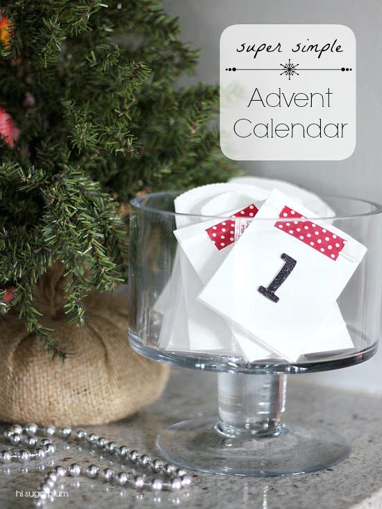 Hi sugarplum the simplest advent calendar yet Hi sugarplum