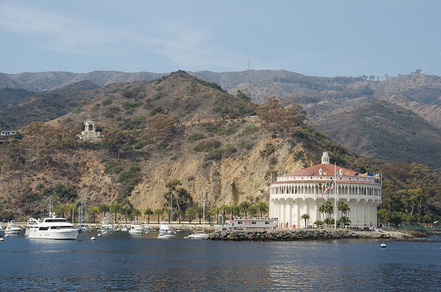 The Catalina Casino from the Harbor