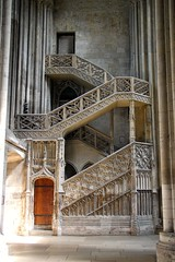 Staircase in Rouen Cathedral