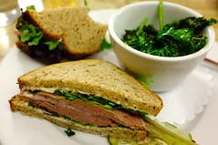 Liverwurst on Rye @ grazin' diner
