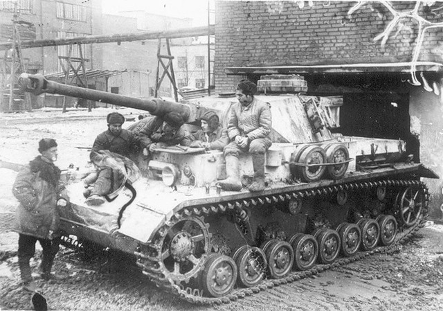 Captured in good condition German tank PzKpfw IV
