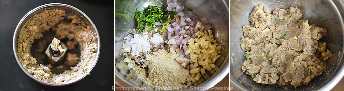 How to make Soya Keema Fritters - Step3