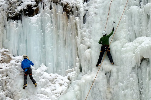 Ice Climbing at Tiffany Falls, Hamilton