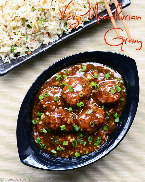 Vegetable Manchurian Gravy Recipe | Veg Manchurian | Indo-Chinese ...
