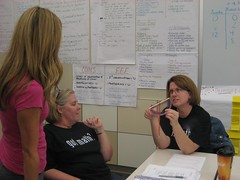 Teachers work together to deepen their understanding of indirect measures, angles and the tangent ratio. (Summer 2011)
