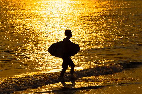 sunset sea beach surfer 夕陽 台南 台湾 ビーチ サーファー 安平区