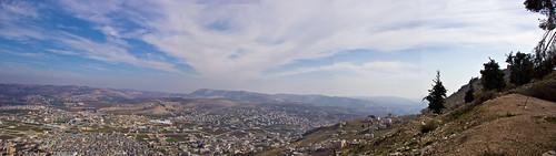 panorama mountain palestine nablus panoramic gerzim