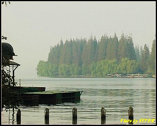 杭州 西湖 (其他景點) - 514 (西湖十景之 柳浪聞鶯 在這裡準備觀看 西湖十景的雷峰夕照 (雷峰塔日落景致)