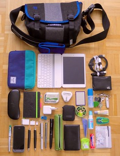 What's in my bag 15 Feb 2014 - Timbuk2 custom XS - all wool
