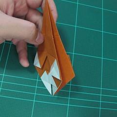 การพับกระดาษเป็นที่คั่นหนังสือหมีแว่น (Spectacled Bear Origami)  โดย Diego Quevedo 013