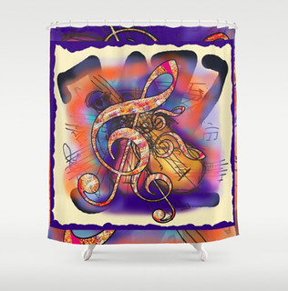 JAZZ OVER JAZZ SHOWER CURTAIN