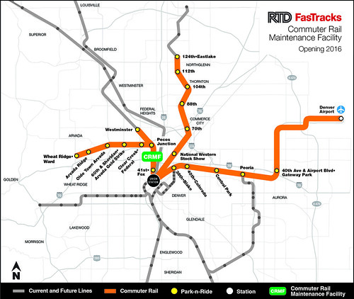 2014 Map of RTD Commuter Rail Maintenance Facility