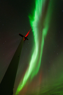 Aurora and the windmill