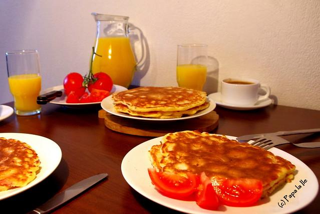 Pancakes cu cascaval si sunca (11)