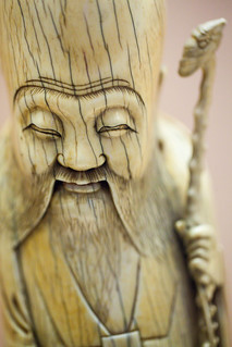 carving of longevity god (ivory), China, 17th century (detail) - Field Museum of Natural History.jpg | by opacity