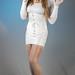 White Leotard, Corset & Stockings Set