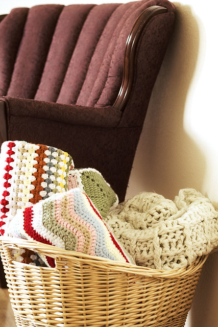 Basket of blankets