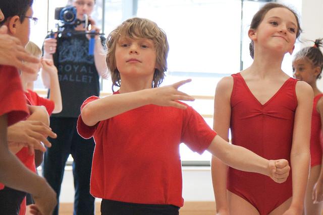 Chance to Dance student Jacob Tidmarsh in rehearsals for Jam Tomorrow © ROH / Andrej Uspenski 2012