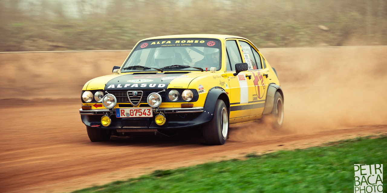 Rallye Praha Revival 2014, RPR, Eda Patera, Chabařovice, plochá dráha, Alfa Romeo Alfasud,
