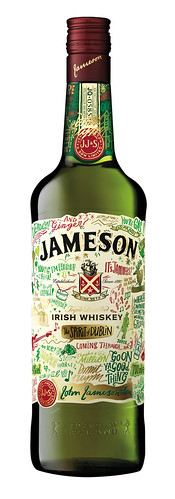 Dermot Flynn's design for the Limited Edition Jameson Irish Whiskey bottle