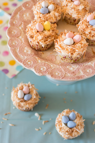 Coconut Bird Nest Cupcake