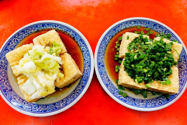 鳳林韭菜臭豆腐與泡菜臭豆腐(Photo by Lilygloria)