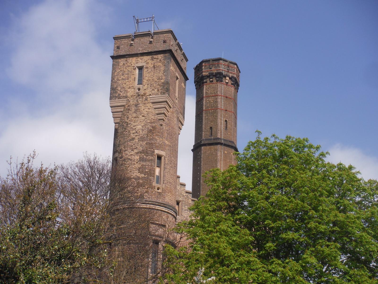 Turrets, The Castle Climbing Centre, Green Lanes SWC Short Walk 26 - Woodberry Wetlands (Stoke Newington Reservoirs)