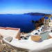 santorini in wide angle