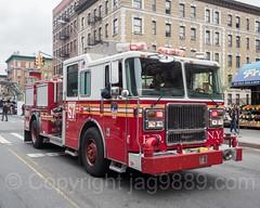FDNY Engine 57 Fire Truck, Car Free Earth Day, Washington Heights, New York City