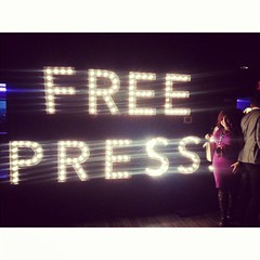 Thx, #NotTheWCHD! I've spent my entire career fighting for a strong, critical, independent #FreePress. This event wasn't just fun, it was needed.