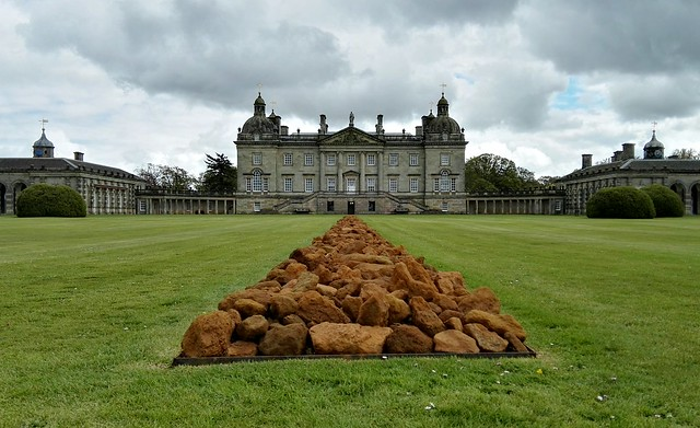 Richard Long's sculpture on the lawn at Houghton Hall's EARTH SKY exhibition
