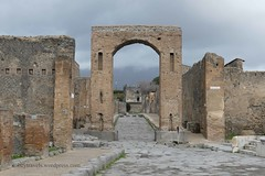 006 Arch of Caligula (Nero), View north to Tower XI (Mecurio) (3)