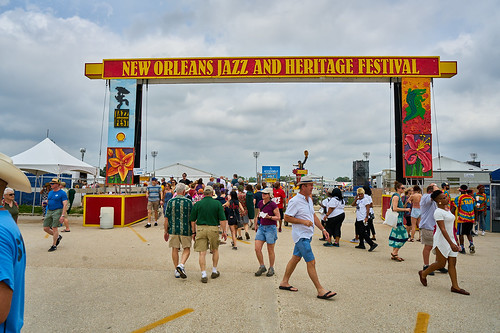 April 28 2017 Day 1 of Jazz Fest. Photo by Eli Mergel