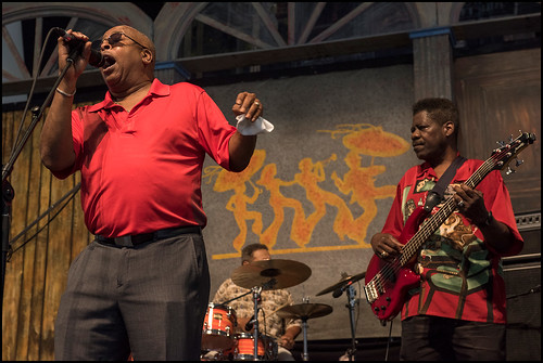 Brother Tyrone & The Mind Benders during Jazz Fest day 2 on April 29, 2017. Photo by Ryan Hodgson-Rigsbee www.rhrphoto.com