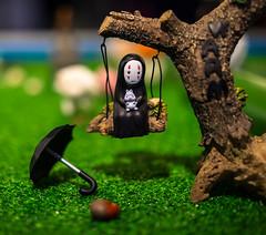 No-Face (Kaonashi) on a swing