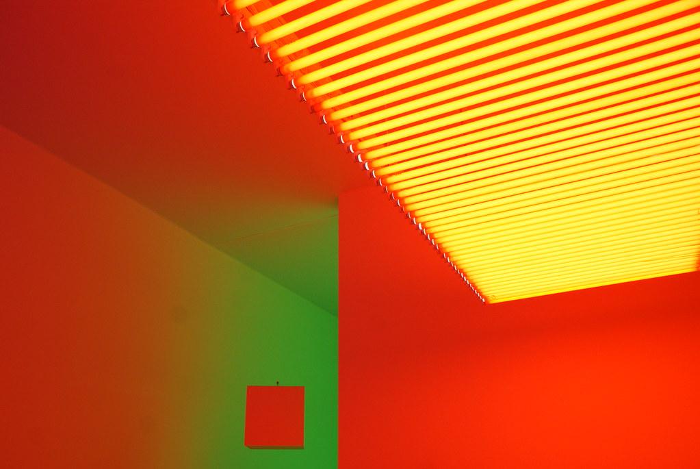 Carlos Cruz Diez Chromosaturation au muséet d'Art moderne et conetmportain de Turin (GAM).